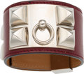 Luxury Accessories:Accessories, Hermes Rouge H Calf Box Leather Collier de Chien PM Bracelet withPalladium Hardware. H Square, 2004. ExcellentCondit...