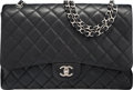 "Luxury Accessories:Bags, Chanel Black Quilted Caviar Leather Maxi Single Flap Bag.Excellent Condition. 13"" Width x 9"" Height x 3.5""Depth. ..."