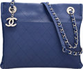"Luxury Accessories:Bags, Chanel Blue Quilted Caviar Leather Shoulder Bag. ExcellentCondition. 10"" Width x 8"" Height x 2"" Depth. ..."