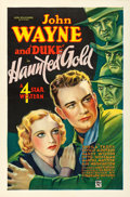"Movie Posters:Western, Haunted Gold (Warner Brothers - First National, 1932). One Sheet (27"" X 41"").. ..."