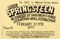 Music Memorabilia:Posters, Bruce Springsteen Moravian College Johnston Hall Concert Poster(Shotgun Productions, 1975)....