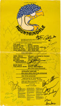 Music Memorabilia:Posters, Big Brother And The Holding Company/Janis Joplin/Richie Havens - Mountaindale Music Festival Signed Poster (1970)....