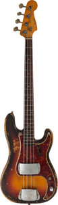 Music Memorabilia:Instruments , James Jamerson Owned and Played 1961 Fender Precision Bass, SerialNumber 60228, with Strap, Case, and Photo Archive....