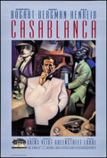 "Movie Posters:Academy Award Winners, Casablanca (Turner Entertainment, R-1992). 50th Anniversary OneSheet (27"" X 40"") SS Gold Foil logo style. Academy Award Win..."