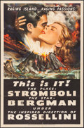 "Movie Posters:Drama, Stromboli (RKO, 1950). One Sheet (27"" X 41""). Drama.. ..."