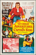 "Movie Posters:Serial, The Great Adventures of Captain Kidd (Columbia, 1953). One Sheet (27"" X 41""). Chapter 2- ""The Fatal Shot."" Serial.. ..."