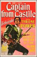 """Movie Posters:Adventure, Captain from Castile (20th Century Fox, 1947). One Sheet (27"""" X41""""). Adventure.. ..."""