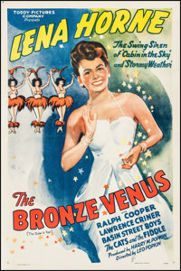 "The Bronze Venus (Toddy Pictures, R-1943). One Sheet (27"" X 41""). Black Films. Original Title: The Duke is Top..."