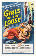 "Movie Posters:Bad Girl, Girls on the Loose (Universal International, 1958). One Sheet (27""X 41""). Bad Girl.. ..."