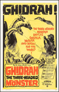 "Movie Posters:Science Fiction, Ghidrah, the Three-Headed Monster (Toho, 1964). One Sheet (27"" X41""). Science Fiction.. ..."