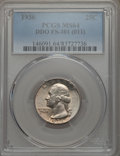 Washington Quarters, 1936 25C Doubled Die Obverse, FS-101, MS64 PCGS....
