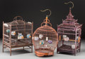 Asian:Chinese, A Group of Three Chinese Birdcages. 20 inches high (50.8 cm) (tallest). ... (Total: 3 Items)