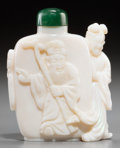 Asian:Chinese, A Chinese Carved Opal Figural Snuff Bottle, 20th century. 2-1/4inches high (5.7 cm). ...