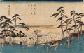 Asian, A Group of Four Japanese Woodblock Prints . 25-1/2 x 9 inches (64.8x 22.9 cm) (sight, largest). ... (Total: 4 Items)