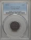 Bust Dimes, 1814 10C Large Date VF35 PCGS. PCGS Population: (19/139). NGCCensus: (4/130). Mintage 421,500. ...