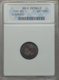 Early Half Dimes: , 1797 H10C -- Cleaned -- ANACS. VG8 Details. NGC Census: (2/114).PCGS Population: (5/192). CDN: $1,500 Whsle. Bid for probl...
