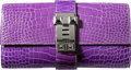 Luxury Accessories:Bags, Hermes 23cm Shiny Violet Alligator Medor Clutch Bag with Palladium Hardware. Q Square, 2013. Excellent to Pristine Con...