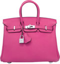 Luxury Accessories:Bags, Hermes 25cm Fuchsia Togo Leather Birkin Bag with Palladium Hardware. P Square, 2012. Excellent to Pristine Condition...