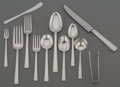 Silver & Vertu:Flatware, An Eighty-Nine Piece Rogers, Lunt & Bowlen Art Deco Silver Flatware Service for Twelve, 20th century. Marks: STERLING, RLB... (Total: 12 Items)