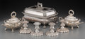 Silver Holloware, British, Seven English Silver-Plated Tablewares, 19th century and later.Marks: (various). 7-1/2 h x 14-1/2 w x 8-1/2 d inches (19.1 ...(Total: 7 Items)