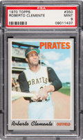 Baseball Cards:Singles (1970-Now), 1970 Topps Roberto Clemente #350 PSA Mint 9 - Only One Higher. ...