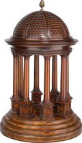 Decorative Arts, Continental, A Carved Mahogany Model of a Classical Rotunda, third quarter 20thcentury. 25 inches high (63.5 cm). ...