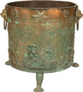 Decorative Arts, British:Other , An English Regency Copper and Brass Fireside Wood Bucket, 19thcentury. 17-1/2 inches high x 16-1/4 inches diameter (44.5 x ...