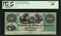 Confederate Notes:1861 Issues, T2 $500 1861 Cr. 2A.. ...