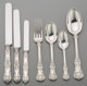 A Thirty-Seven Piece Tiffany & Co. Silver English King Pattern Silver Flatware Group with Silver-Plated Knives...