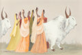 Fine Art - Painting, American:Contemporary   (1950 to present)  , Adolf Arthur Dehn (American, 1895-1968). Sacred Procession. Casein on paper. 15 x 22 inches (38.1 x 55.9 cm) (sight). Si...