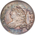 Bust Dimes, 1827 10C Pointed Top 1, JR-6, R.2, MS64 NGC....