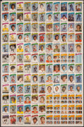 Hockey Cards:Lots, 1976 O-Pee-Chee Hockey Uncut Sheets (4)....