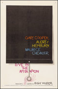 "Movie Posters:Romance, Love in the Afternoon (Allied Artists, 1957). One Sheet (27"" X41""). Romance.. ..."