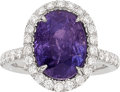 Estate Jewelry:Rings, Burma Color-Change Sapphire, Diamond, White Gold Ring. ...