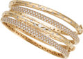 Estate Jewelry:Bracelets, Diamond, Gold Bracelets. ... (Total: 4 Items)