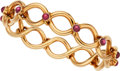 Estate Jewelry:Bracelets, Ruby, Gold Bracelet, Tiffany & Co., French. ...