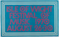 Music Memorabilia:Posters, Isle of Wight Festival (Jimi Hendrix/The Who/Doors) Concert Poster(1970)....