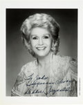 Movie/TV Memorabilia:Autographs and Signed Items, A Debbie Reynolds Signed Black and White Photograph, Circa1980s....