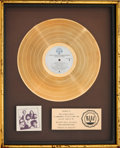 Music Memorabilia:Awards, Doobie Brothers Minute By Minute RIAA Gold Record AwardPresented to the Artist (Warner Bros. BSK 3193, 1978). ...