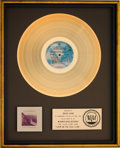 Music Memorabilia:Awards, Doobie Brothers Livin' On The Fault Line RIAA Gold RecordSales Award (Warner Bros. BSK 3045, 1977)....