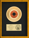 """Music Memorabilia:Awards, Isley Brothers """"That Lady"""" RIAA Gold Record Sales Award (T-Neck ZS72251, 1973)...."""