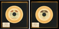 Music Memorabilia:Awards, Stevie Wonder - Two In-House Gold Record Awards (Tamla,1972/74).... (Total: 2 Items)