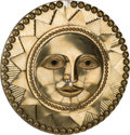 Decorative Arts, Continental:Other , Sergio Bustamante (Mexican, b. 1949). Sun Face, Cara delSol. Welded brass. 35-1/2 inches diameter (90.2 troy).Inscribe...