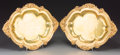 Decorative Arts, British:Other , A Pair of Elkington & Co. Gilded Platters, Birmingham, England,late 19th-early 20th century. Marks: ELKINGTON & CO,(ef... (Total: 2 Items)