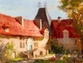 Fine Art - Painting, American:Contemporary   (1950 to present)  , Rudolph Colao (American, 1927-2014). Chateau de Richmont,1984. Oil on canvas. 9 x 12 inches (22.9 x 30.5 cm). Signed lo...