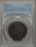 Early Half Dollars, 1795 50C 2 Leaves -- Smoothed -- PCGS Genuine. Good Details. NGCCensus: (29/702). PCGS Population: (59/1666). CDN: $900 Wh...