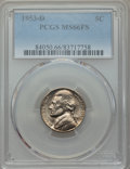 Jefferson Nickels, 1953-D 5C MS66 Full Steps PCGS. PCGS Population: (18/1). ...