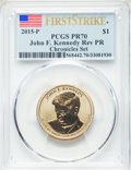2015-P $1 John F. Kennedy, Reverse Proof, Chronicles Set, First Strike, PR70 PCGS. PCGS Population: (173). NGC Census: (...