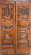 Furniture : French, A Pair of French Carved Pine Doors, late 19th-20th century. 73inches high x 21 inches wide (185.4 x 53.3 cm) (each). ... (Total:2 Items)