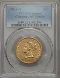 Liberty Eagles: , 1843-O $10 -- Cleaning -- PCGS Genuine. AU Details. NGC Census: (47/196). PCGS Population: (31/64). CDN: $1,500 Whsle. Bid ...